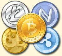 Bitcoin, Litecoin, Dogecoin, Namecoin, Ripple
