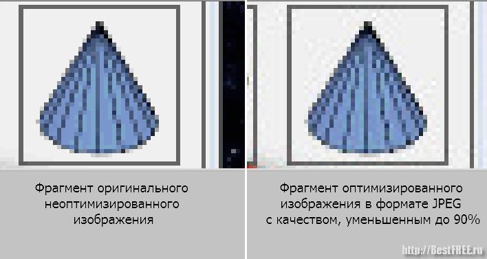 Уменьшение размера JPEG-картинки