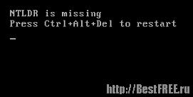 NTLDR is missing