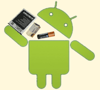 Андроид и батарейка