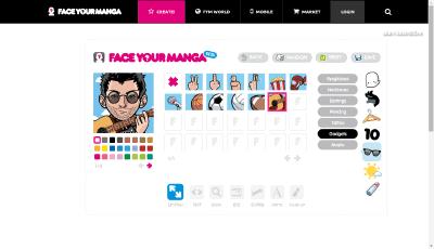 Создание аватарки на FaceYourManga.com