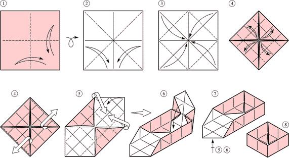 Оригами Простая коробочка