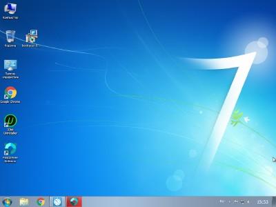 Внешний вид виртуальной Windows 7