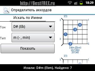 Определитель аккордов для Android