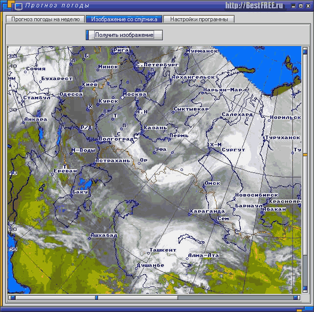 Спутника в программе прогноз погоды