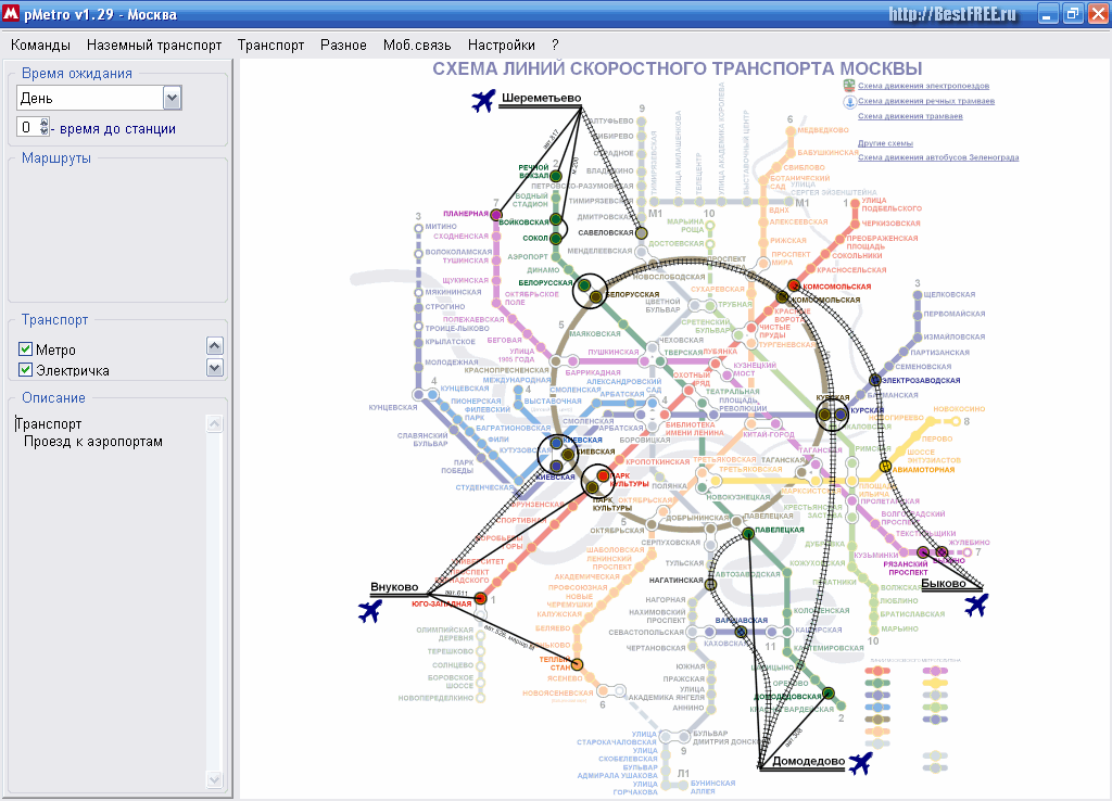 Интерактивная карта метро.