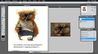 Работа с двумя фото в Pixlr