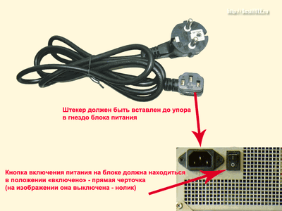 Как подключить компьютер к электросети