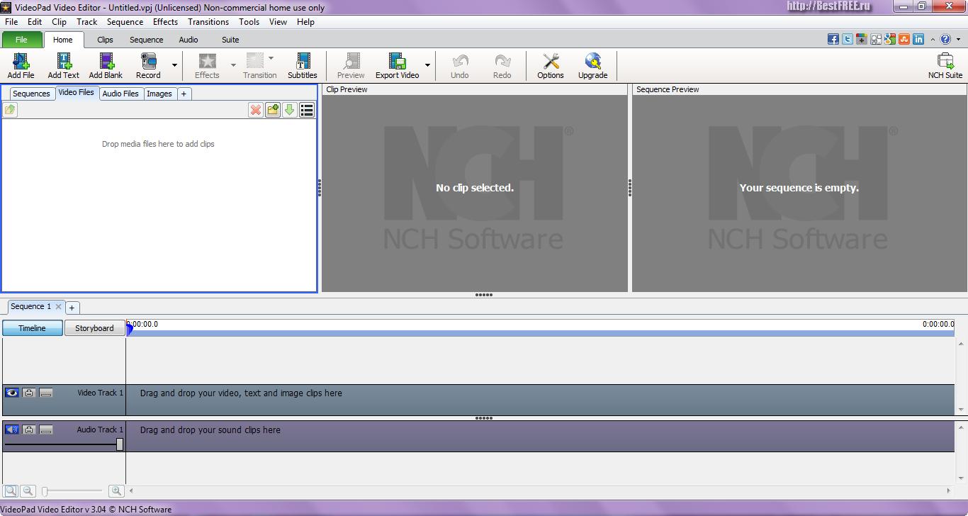 Русификатор для videopad video editor