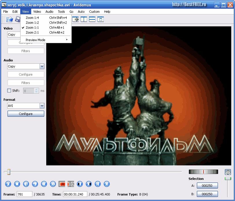 AVIDEMUX 2.5.3 СКАЧАТЬ БЕСПЛАТНО